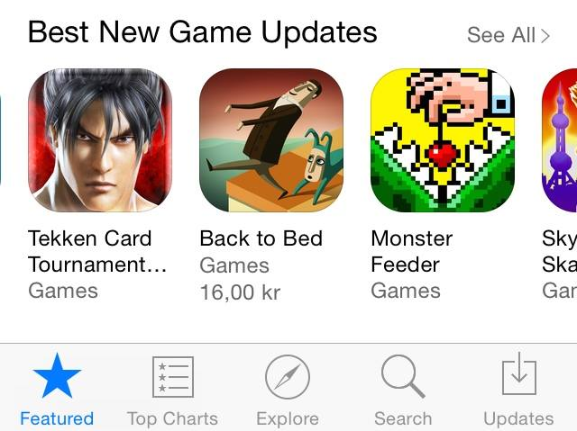 Best New Game Updates (App Store)