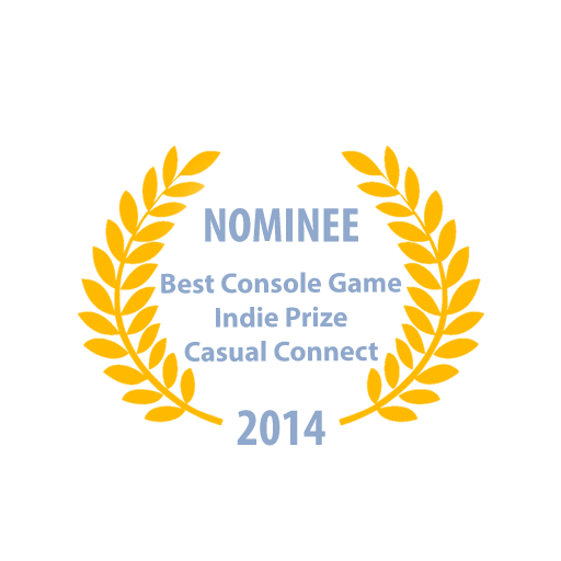 Nominated for Best Console Game Indie Prize at Casual Connect Europe in Amsterdam, Netherlands 2014 (click to open link).