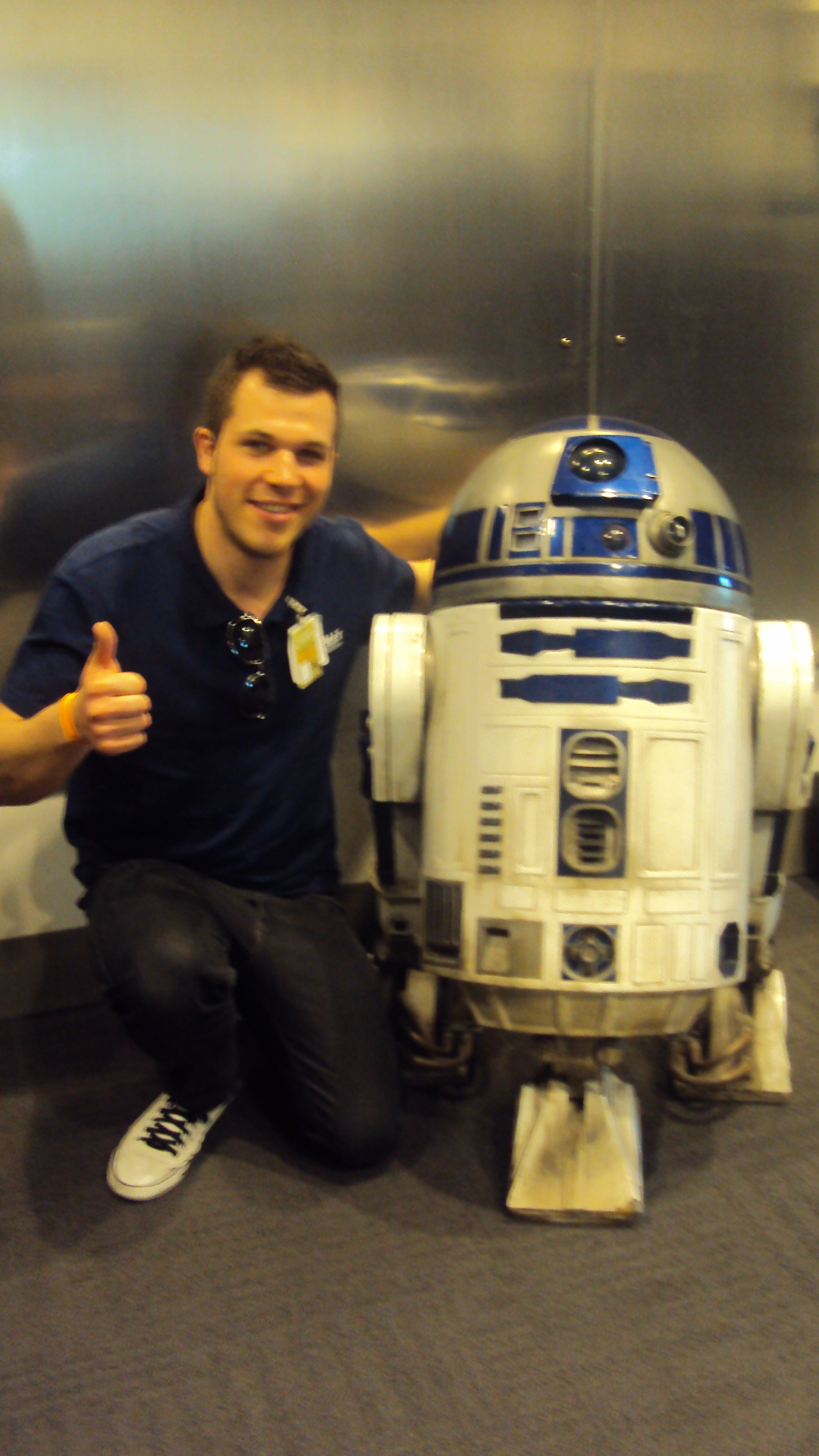Saying hello to this little fellow at Industrial Light & Magic (San Francisco 2013).