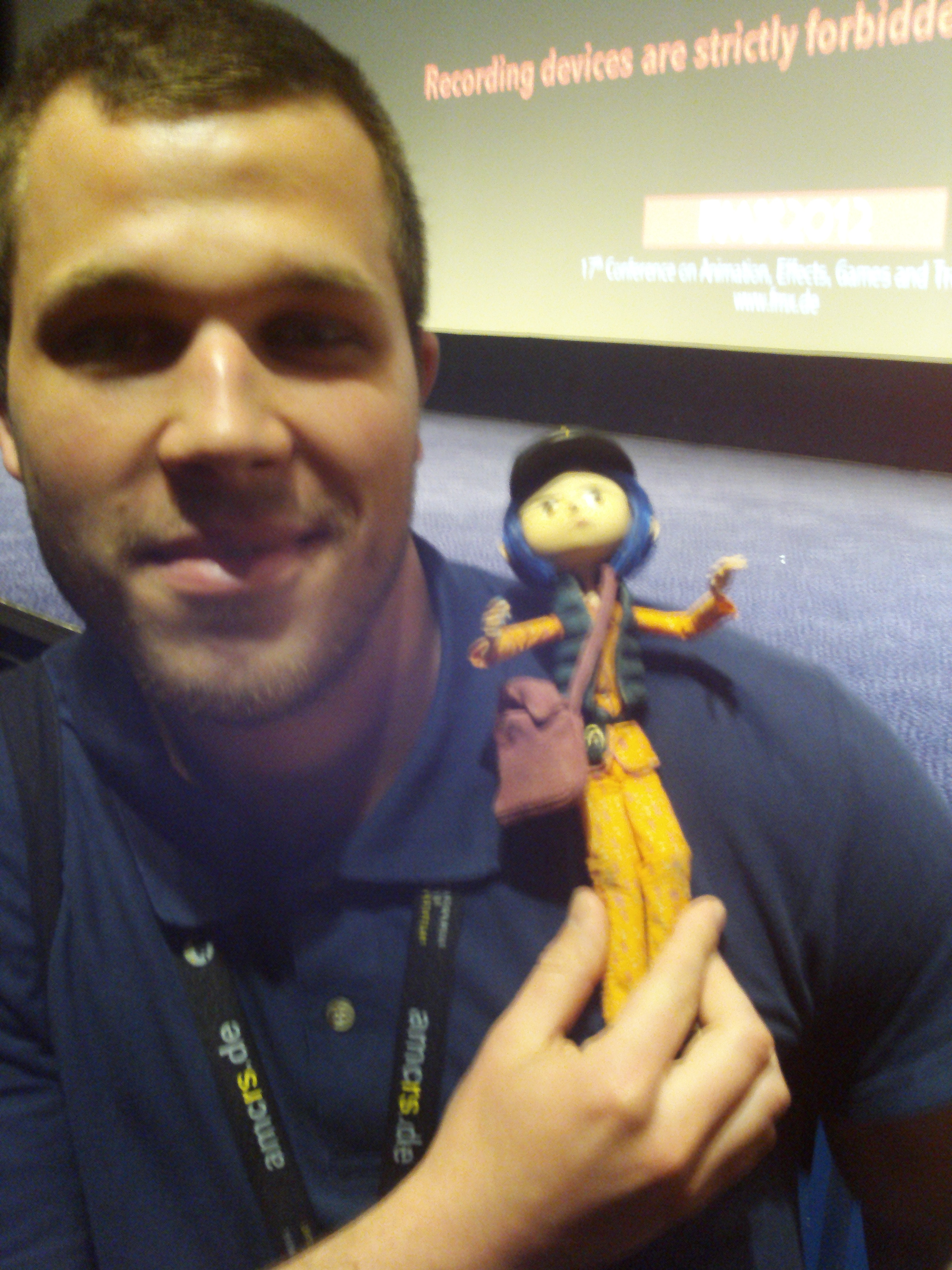 I was thrilled to hug the original Coraline after a great speech at the FMX Conference (Stuttgart 2012).