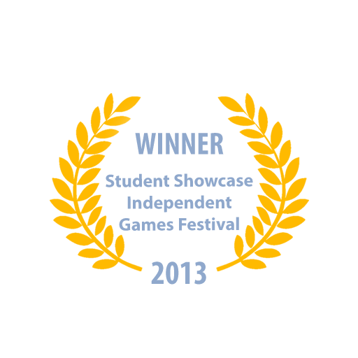 Student Showcase winner at the Independent Games Festival (IGF), San Francisco 2013 (Click to open link).